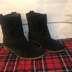 Jeffrey Campbell black suede ankle boots sz 9